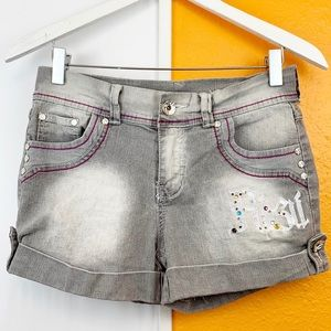 Vintage FUBU Bling Embroidered Jean Short